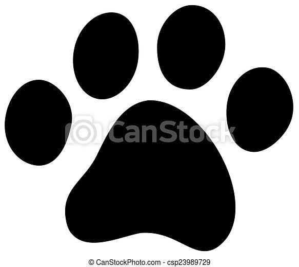 cat dog paw - csp23989729