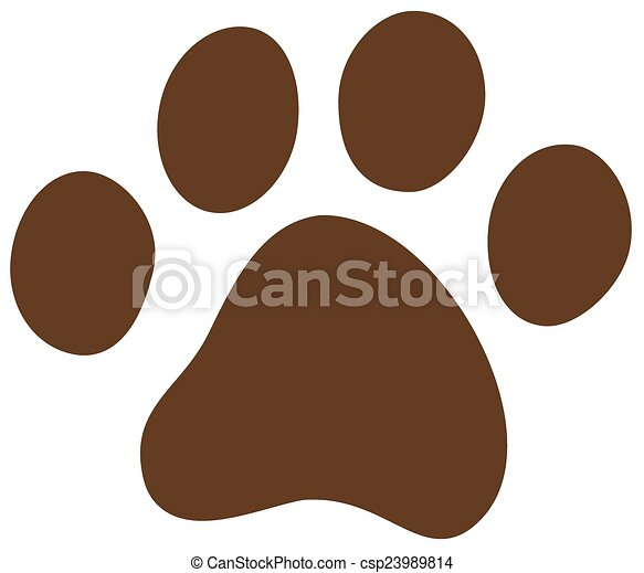cat dog paw - csp23989814