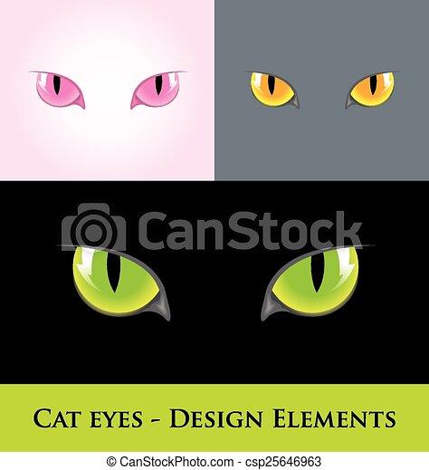 Cat eyes - csp25646963