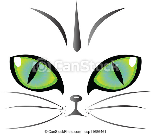 Cat eyes logo vector - csp11686461