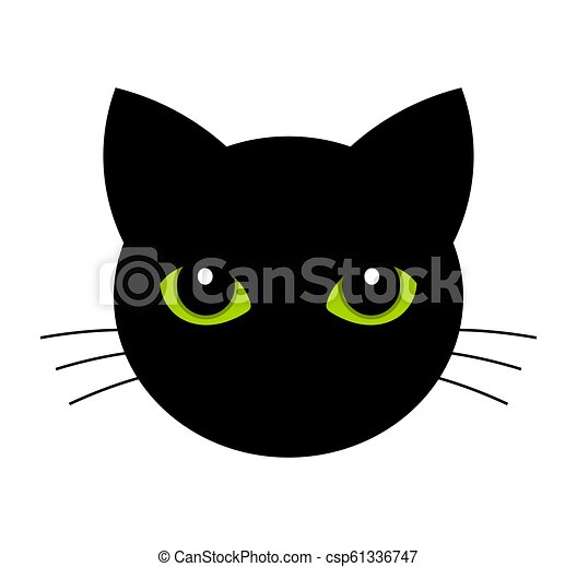 Cat face with green eyes - csp61336747