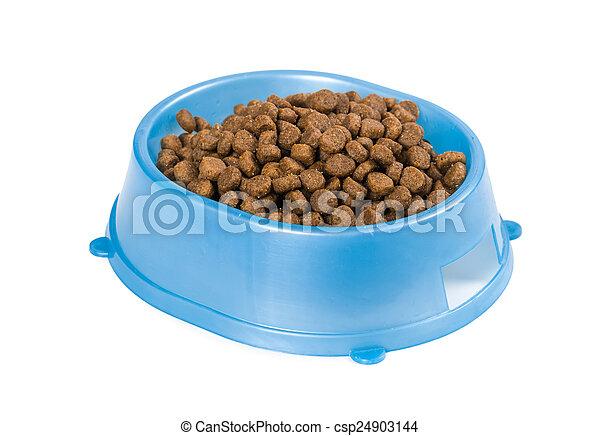 Cat food in a bowl - csp24903144