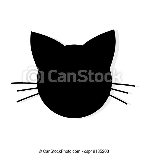 cat head shape icon csp49135203