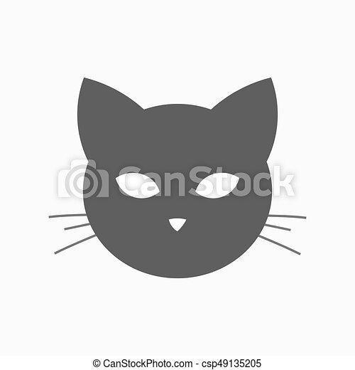 Cat Head Shape Icon Vector Illustration