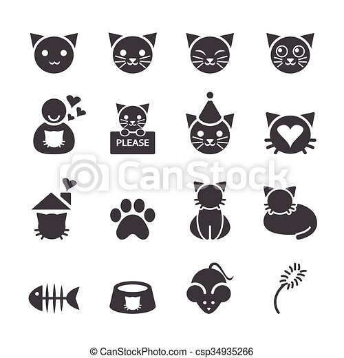 cat icon - csp34935266