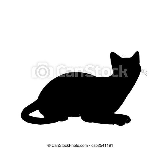 Cat Illustration Silhouette - csp2541191