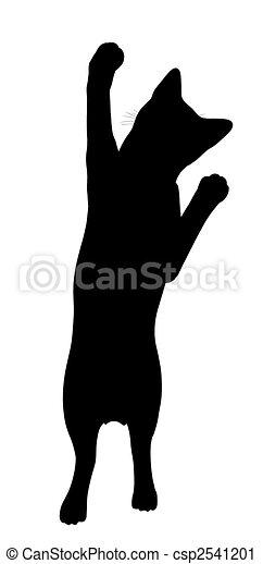 Cat Illustration Silhouette - csp2541201