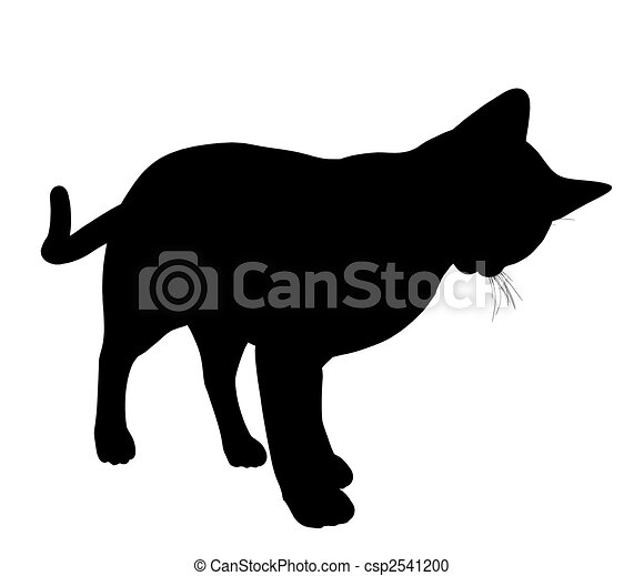 Cat Illustration Silhouette - csp2541200