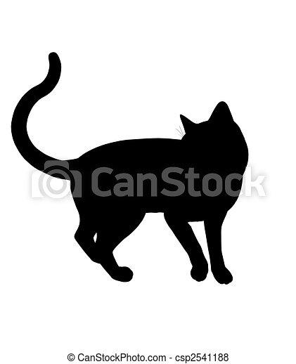 Cat Illustration Silhouette - csp2541188