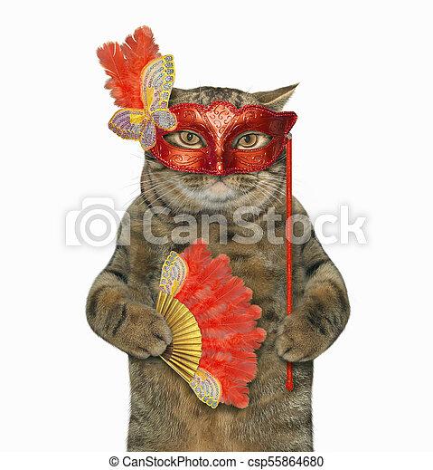 Cat in a masquerade mask 1 - csp55864680
