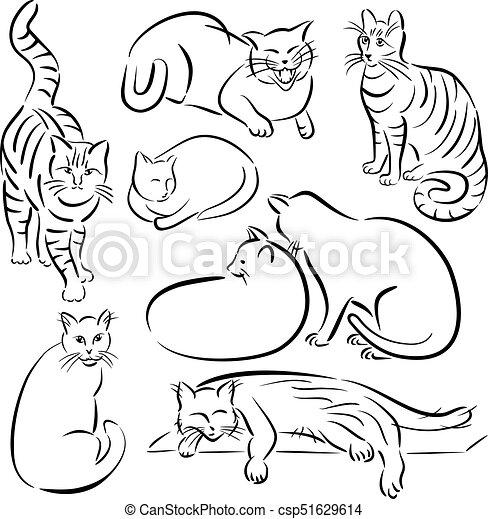 Cat Line Designs-Set 1 - csp51629614