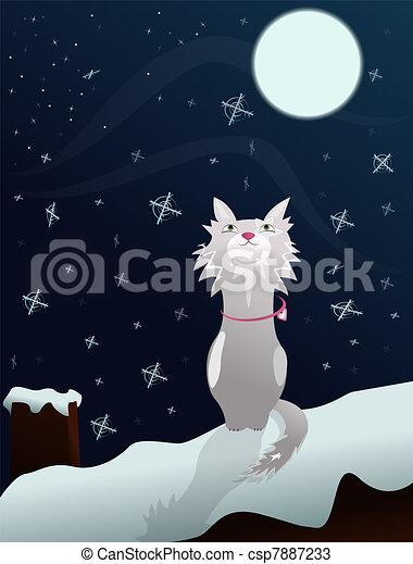 Cat on roof - csp7887233