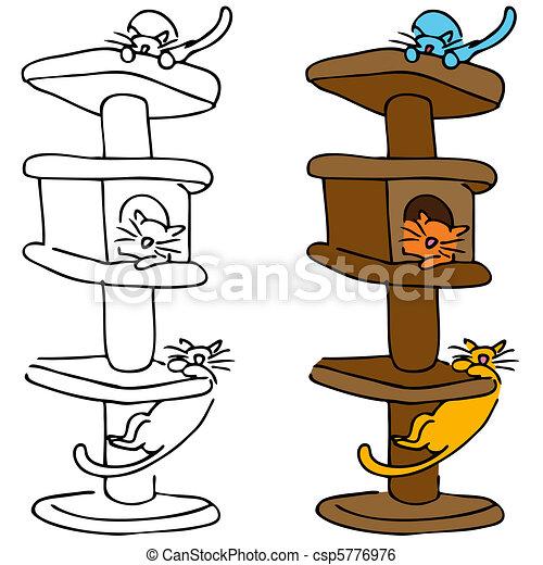 Cat Scratching Post - csp5776976