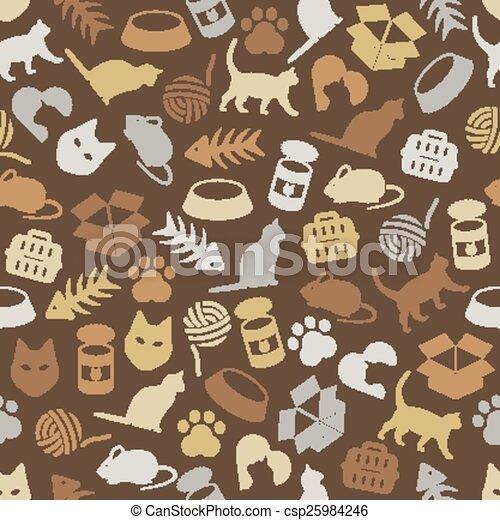 cat seamless pattern - csp25984246