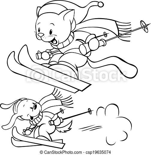 cat skiing - csp19635074