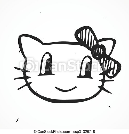 Cat Vector Illustration, hand drawn - csp31326718