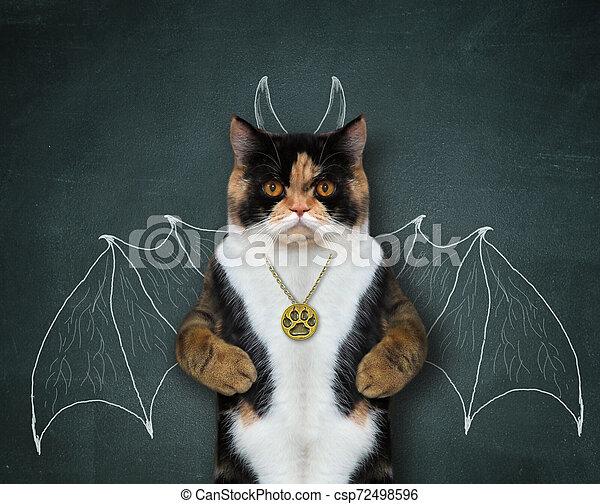 Cat wants to be bat 2 - csp72498596