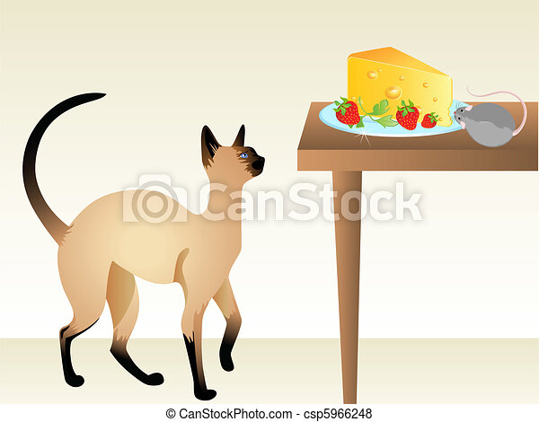 Cat hunting a mouse clipart. Commercial use GIF, JPG, PNG, EPS, SVG clipart  # 377063   Graphics Factory