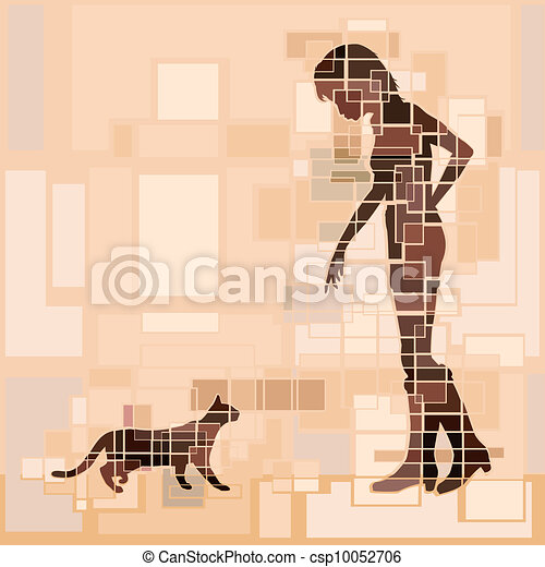 Cat woman - csp10052706