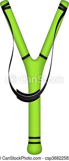 Catapulta en diseño verde - csp36822582