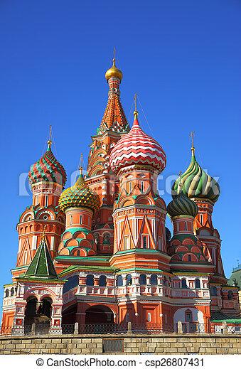 Catedral en la plaza roja - csp26807431