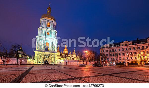 Kiev, Ucrania: Santa catedral de Sofía - csp42799273