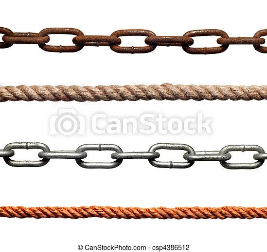 catena, strenght, schiavitù, corda, collegamento, collegamento - csp4386512