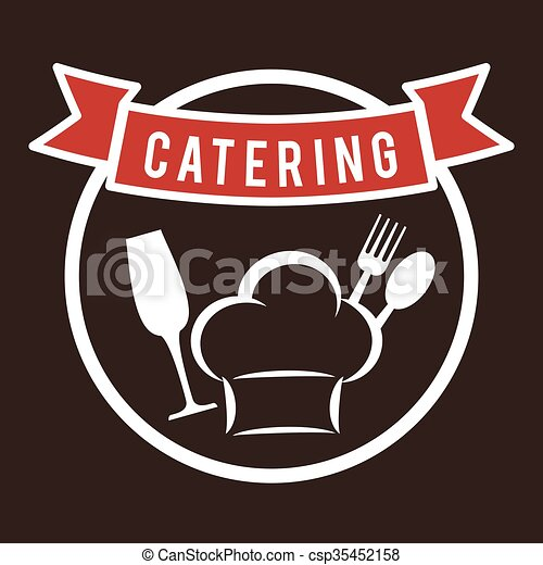 Catering and chefs hat design - csp35452158