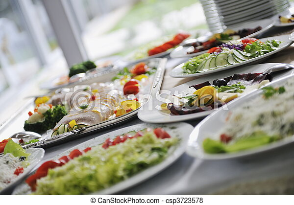 catering food - csp3723578