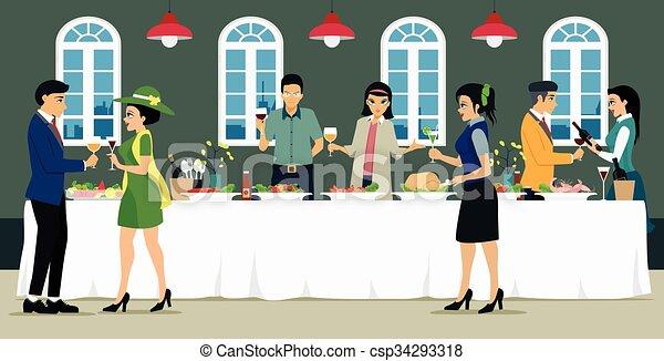 Catering - csp34293318