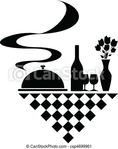 catering vector silhouettes - csp4699961