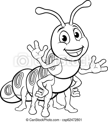 718ff29ea7f Caterpillar Animal Cartoon Character