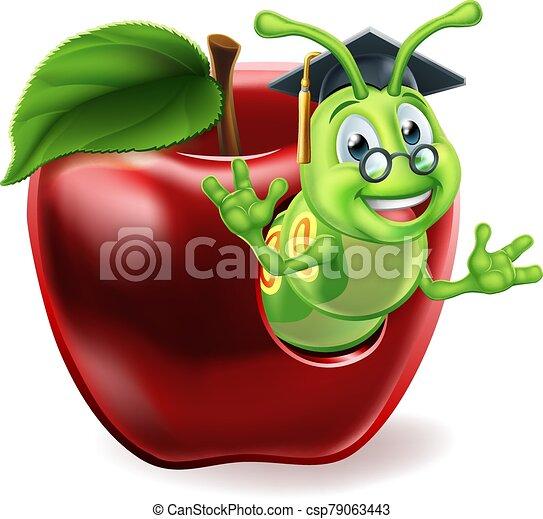 Caterpillar Cartoon Character A Caterpillar Book Worm Cute