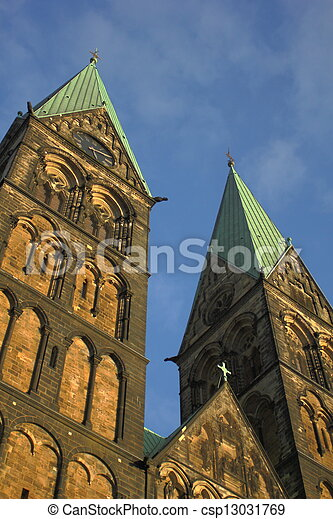 Cathedral in Bremen, Germany - csp13031769