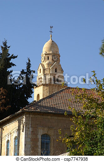 Cathedral in Jerusalem - csp7747938