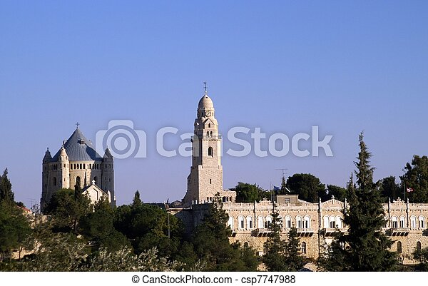 Cathedral in Jerusalem - csp7747988