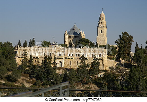 Cathedral in Jerusalem - csp7747962