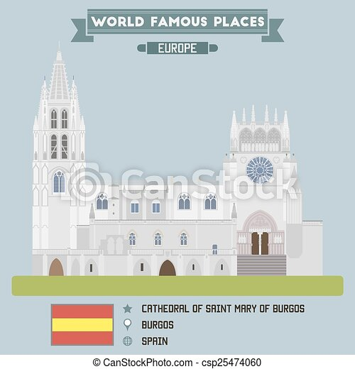 Cathedral of Saint Mary of Burgos - csp25474060