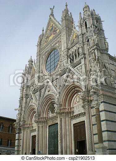 Cathedral of Siena in Italy - csp21902513