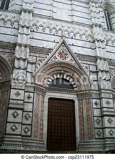 Cathedral of Siena in Italy - csp23111975