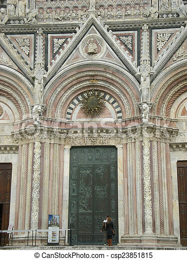 Cathedral of Siena in Italy - csp23851815
