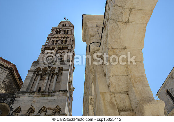 Cathedral of st Dominus, Diocletian's Palace, Split Croatia - csp15025412