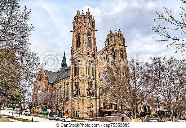 Cathedral of the Madeleine in Salt Lake City, Utah - csp75553883