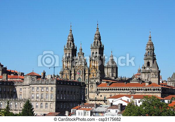 Cathedral - Santiago de Compostela, Spain - csp3175682