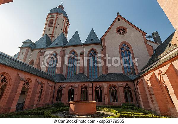 Catholic church St. Stephan in Mainz, Germany - csp53779365