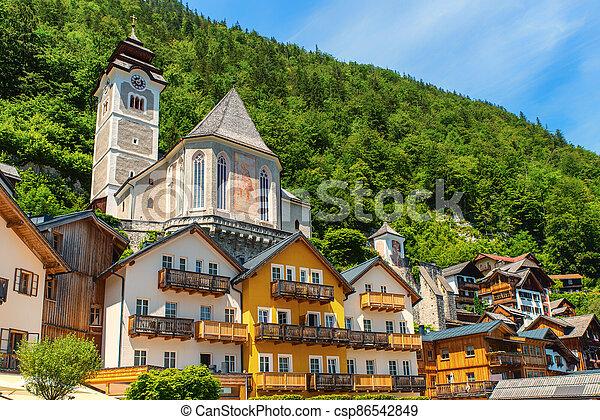 Catholic Parish church Hallstatt - csp86542849