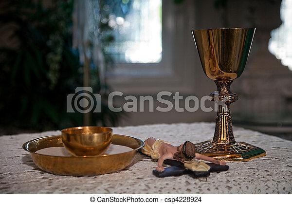 Catholic religious wedding paraphernalia - csp4228924