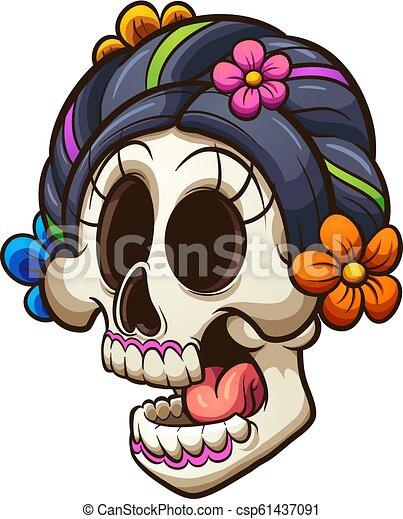 Cráneo de Catrina - csp61437091