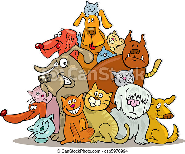 Cats and Dogs group - csp5976994