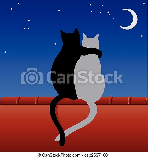 Cats on a roof - csp25371601